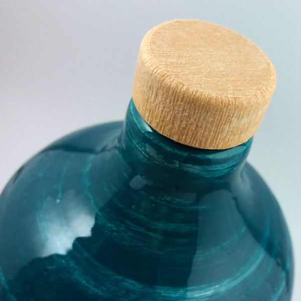 Orcio in ceramica pugliese da 500 ml con olio extra vergine d'oliva - Puglia