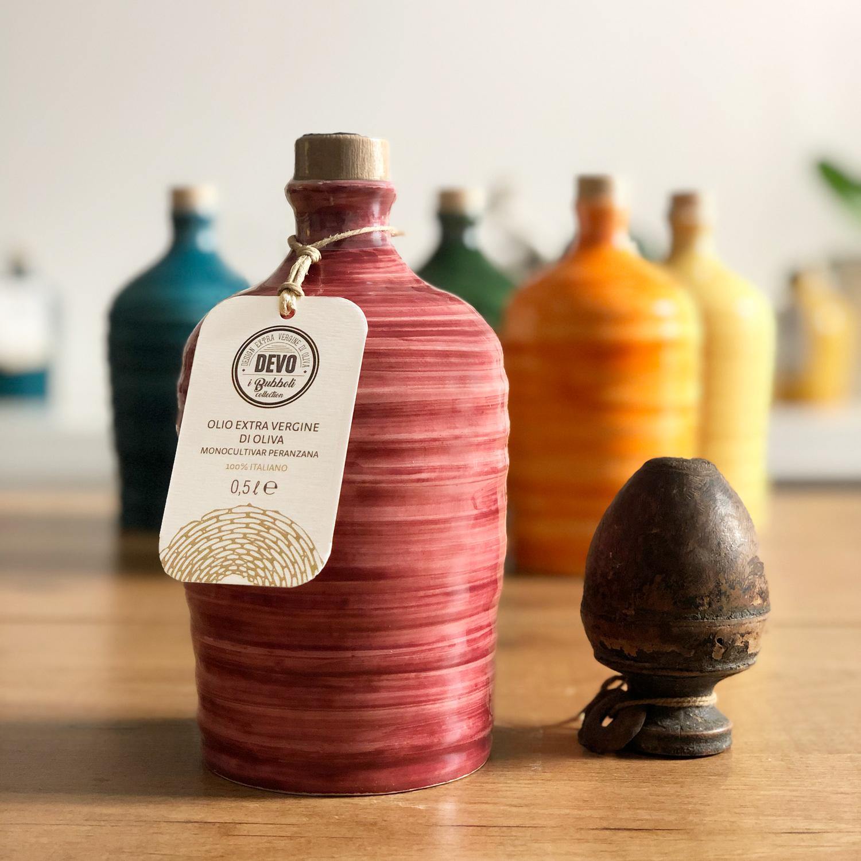 Bubbolo bordeaux - orcio in ceramica da 500 ml con Olio ...