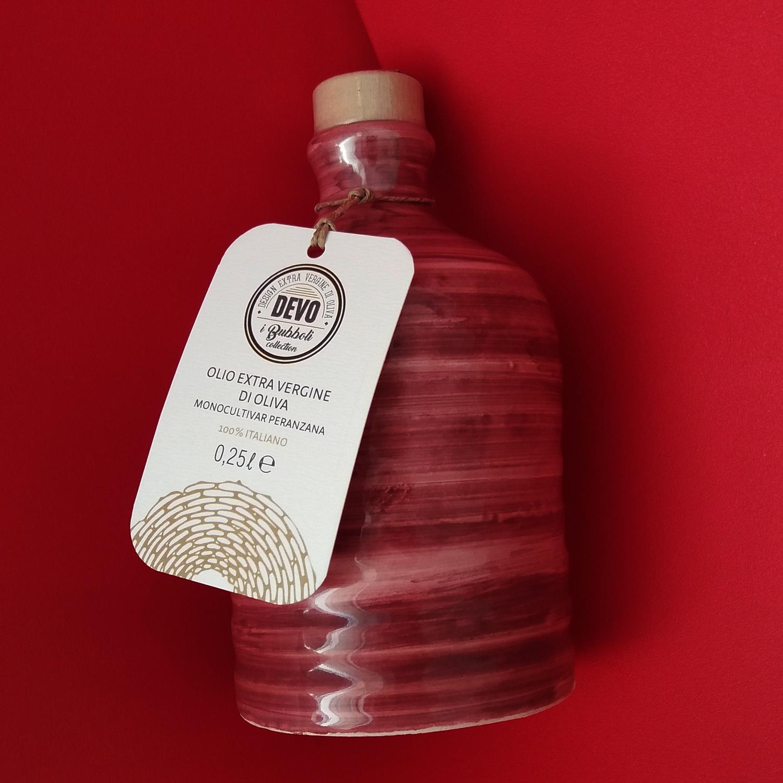 Orcio in ceramica pugliese da 250 ml con olio extra vergine d'oliva - Puglia