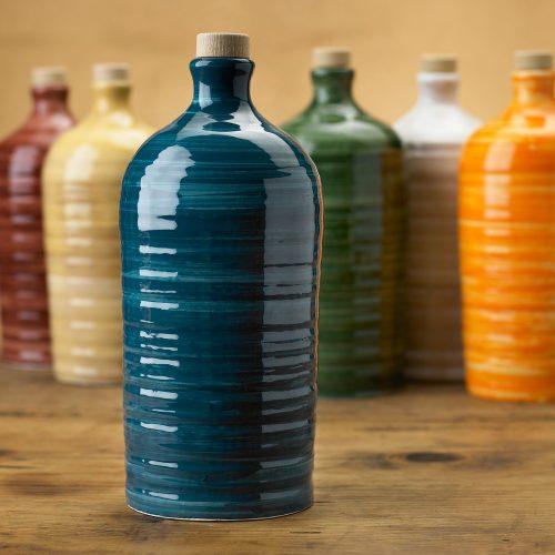 Orcio in ceramica pugliese da 1 litro con olio extra vergine d'oliva - Puglia