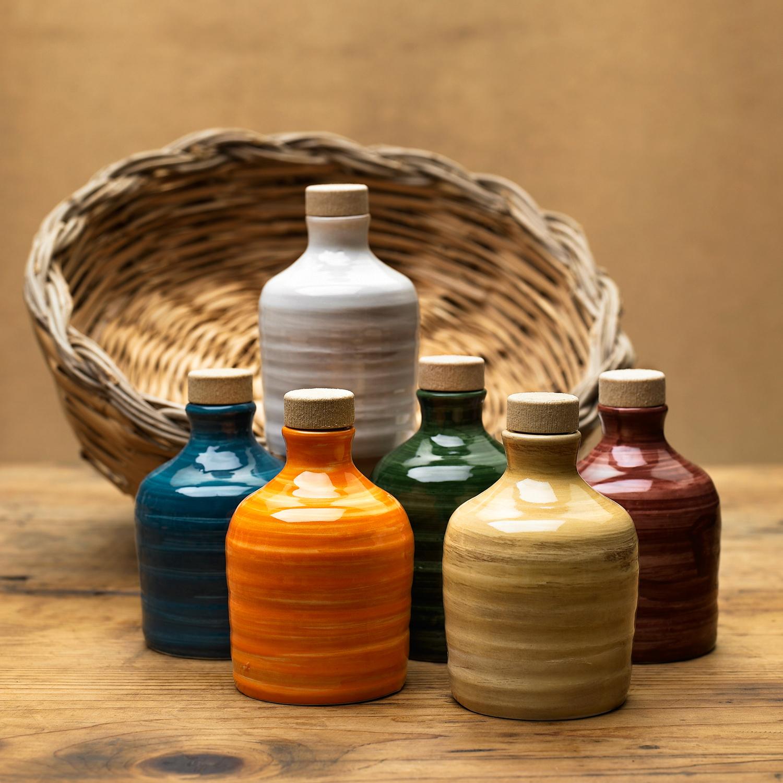 Orcio in ceramica da 100 ml con olio extra vergine d'oliva - Puglia