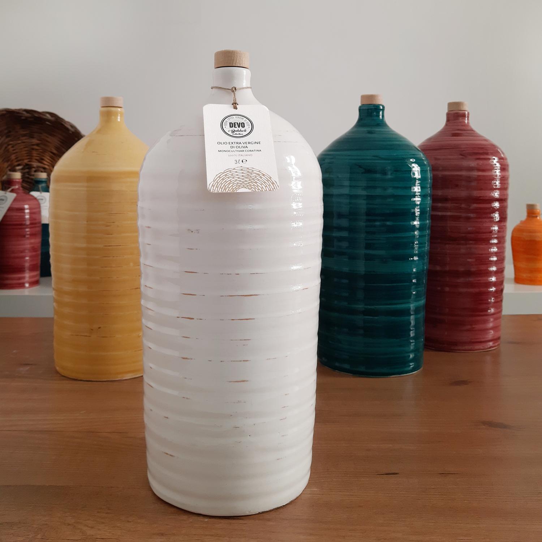 Molto Maxi bianco - orcio in ceramica da 3 litri con Olio ...