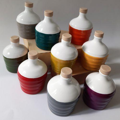 Molto Mini B-Color - orcio in ceramica artigianale pugliese con 100 ml di olio extra vergine d'oliva
