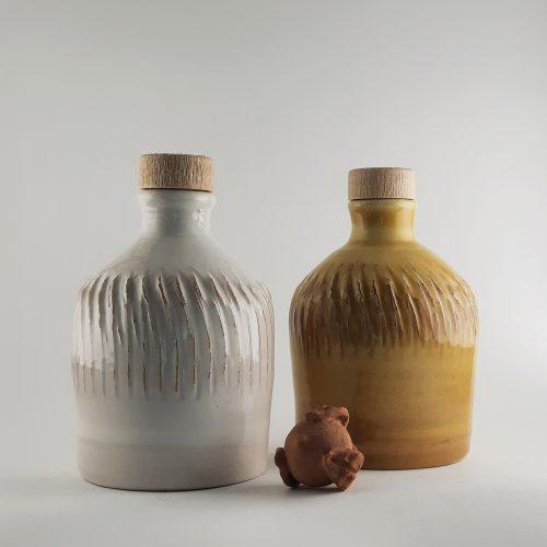 Molto Mini B-Sign - orcio in ceramica artigianale pugliese con 100 ml di olio extra vergine d'oliva